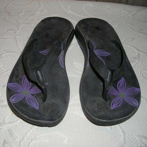 Chaco Sandals Black Purple Flip Flops Thongs